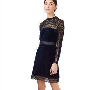 NWT - Topshop - Lace & Velvet Dress